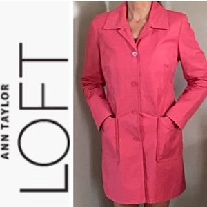 ANN TAYLOR LOFT Lined Trench Coat Size: S